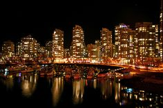 pictures of city skylines at night - Google Search