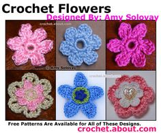 Crochet Some Pretty Flowers with These Free Patterns: