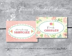 Sweet Farmer's Market  INSTANT DOWNLOAD PRINTABLE Fold Over Labels by ItsyBelle, $5.50 Country, Shabby Chic, Vintage, Floral, Wedding, Bridal Shower, Birthday