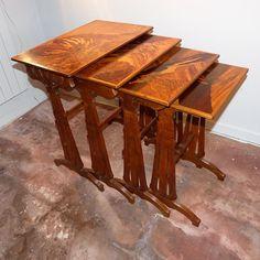 emile gall tables gigognes marqueterie 39 oiseaux 39 vers 1920 art nouveau gall. Black Bedroom Furniture Sets. Home Design Ideas