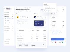 Klamma for Business | Invoice Creating by Alexander Plyuto 🎲 on Dribbble Invoice Design, Web Ui Design, Dashboard Ui, Dashboard Design, Ui Kit, Create Invoice, Ecommerce Website Design, Ui Design Inspiration, Web Design Tutorials