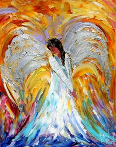 Fine Art Print 11 x 14 from oil painting by Karen Tarlton - Angel. $28.00, via Etsy.