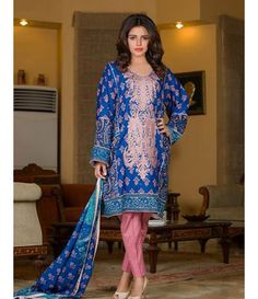 Signature Icon Embroidered Lawn Collection 2016 ZS_7A