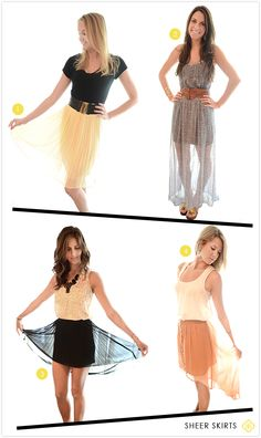 How We Wear: Sheer Skirts