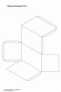 desarrollo plano de unprisma rectangular oblicuo