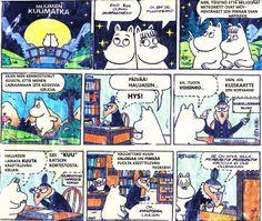Muumipeikko ja kirjanstonhoitaja <3  Mumin troll and Librarian <3 Onko kirjaston asiakaspalvelu edelleen tämmöistä? Huomaa kätevä kuono, jolla voi selata kortistoa! #library memes #library comics #kirjastomeemit #kirjastosarjakuvat
