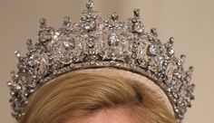 """royalwatcher: """" Queen Sophia's Diamond Tiara History: This tiara was first seen on Queen Sophie, previously known as Princess Sophie of Prussia on her wedding to Constantine I of Greece in The. Royal Crowns, Royal Tiaras, Tiaras And Crowns, Princesa Victoria, Queen Sophia, Queen Anne, Greek Royal Family, Diamond Tiara, Royal Jewelry"""