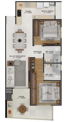 House Floor Design, Sims House Design, Small House Design, Modern House Design, House Layout Plans, House Layouts, Apartment Layout, Apartment Design, 30x40 House Plans