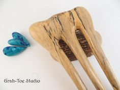 Spalted Joy Wood Hair ForkHair StickWood Hair by grahtoestudio