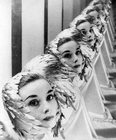 Audrey Hepburn photographed by Erwin Blumenfeld. c. 1952.