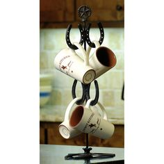 Horseshoe coffee cup holder
