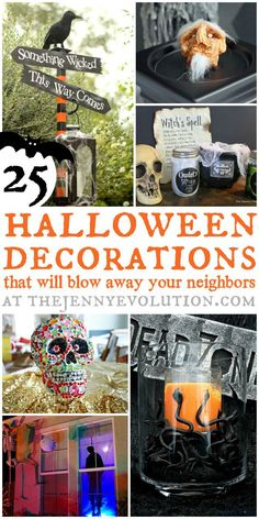 DIY Halloween Decorations That Will Blow Away Your Neighbors + Tutorials | The Jenny Evolution