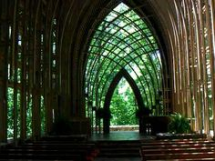 Mildred Cooper Memorial Chapel in the Woods. Bella Vista, Arkansas