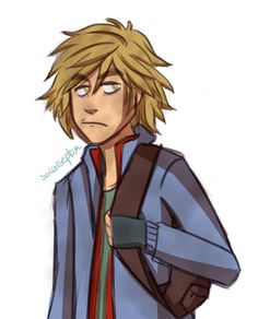A not so amused Mango Chunks Magnus Chase yes yess.This silly sketch thingy took me waaay too long to make, holy shit my drawing game is hella weak I need to draw more ;A;