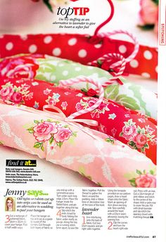 I am also a designer for Crafts Beautiful magazine on a freelance basis. Here are some of my most recent published projects. Sewing Crafts, Sewing Projects, Diy Crafts, Padded Coat Hangers, Coco Rose Diaries, Patchwork Heart, Sweet Violets, Lavender Bags, Crafts Beautiful