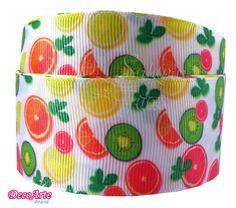 Fita de gorgurão Frutas de Verão 38mm × 10m