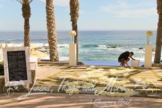 Linens, Things + more event design in Cabo San Lucas. Flowers by Rene at Cabo Floral. Wedding at Esperanza.