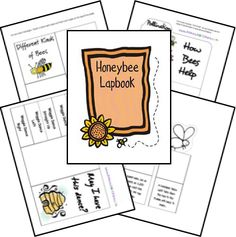 Get this FREE Honeybee Lapbook to teach your children all about the honeybee and what they do!
