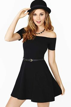 Motel Catalina Dress- I would love if this came in other colors. I'm far too pale to pull off black without coming off as gothic