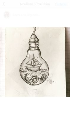 Drawing Sketches, Cool Art Drawings, Beautiful Drawings, Tattoo Drawings, Pencil Drawings, Minimalist Drawing, Handlettering, Light Art, Lightbulb Tattoo