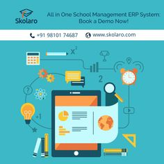 Skolaro A All in One School Management ERP System: Automate Everything and Generate Insightful Reports. Schedule Demo @ www.skolaro.com #schoolerp #schoolmanagement #onlineschoolsystem