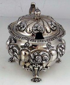 American sterling antique mustard pot