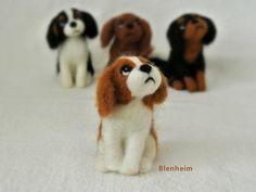 SALE: Needle Felted Dog / Miniature Sculpture of Cavalier King Charles Spaniel Blenheim / Small on Etsy, $39.41 AUD