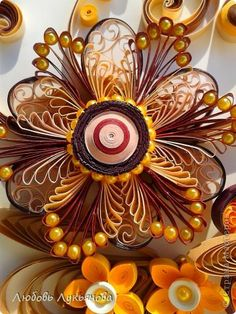 *QUILLING ~ Painting mural drawing March 8 Paper Quilling floral arrangement band beads photo 6