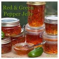 So wonderful for gifts and appetizers!  Red & Green Pepper Jelly