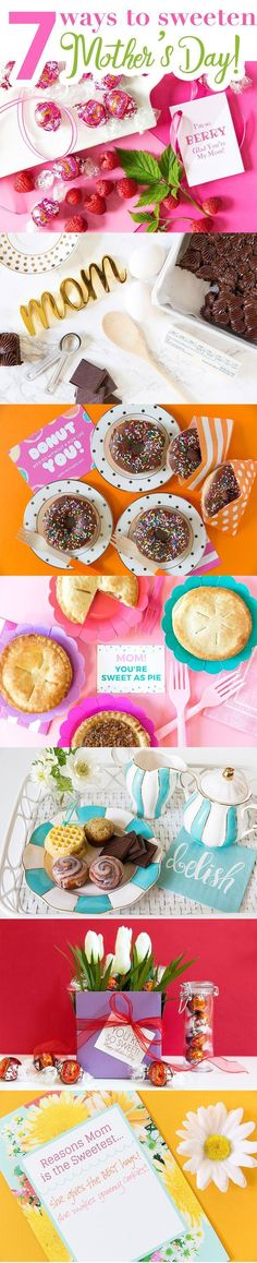 Celebrate Mom by sweetening up her special day! I'm sharing my 7 favorite ways to sweeten up Mother's Day! Diy Party Crafts, Mother's Day Diy, Good Pizza, Sweet Breakfast, Gifts For New Moms, Childrens Party, Fourth Of July, Crafty, Diy Ideas