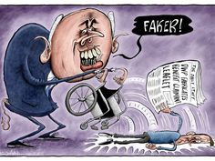 """George Iain Duncan Smith (Conservative Secretary of State for Work and Pensions) : """"Faker ! via, The Independent, The Daily Cartoon, Thursday 25 August Satirical Cartoons, Political Cartoons, Satire, Secretary, Thursday, Benefit, Google, Image"""