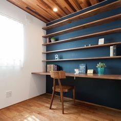 Studio Interior, Office Interior Design, Home Office Decor, Boys Room Wallpaper, Study Room Design, Home Libraries, Home Decor Styles, Home Renovation, Interior Architecture
