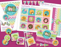 Owl Baby Shower DIY Party Printables by CreativeStationery on Etsy
