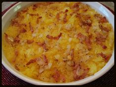 This side dish is simply delicious, considering how little is in it!  The bacon and onion really GO together!  If you don't overcook the squash and are careful when removing the threads, you can se...