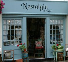 Vintage shop in Shepton Mallet, England For some people, vintage means nostalgia Repinned by www.silver-and-grey.com
