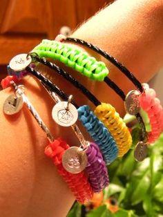 Colorful TEEN COBRA plastic lace bracelets