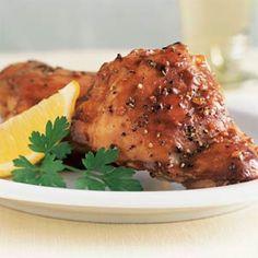 Lemon-Garlic Chicken Thighs | MyRecipes.com