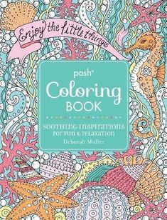 Posh Adult Coloring Book Christmas Designs For Fun And Relaxation