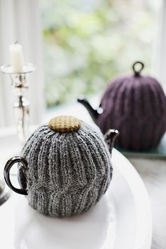 Photographing Tea Cosies Ravelry: X x X Anniversary Tea Cozy pattern by Churchmouse Yarns and Teas