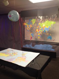 Map Agency D3 missions need to find a map shower curtain! Great idea!!