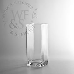 "10"" x 4"" Square Glass Block Vase - WholesaleFlowersAndSupplies.com"