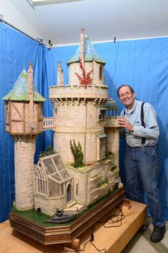 Miniaturist Rik Pierce with his wonderful castle -Dragonwyck, perhaps not woodworking in the purest sense but pretty amazing none the less.