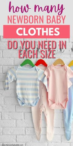 Newborn baby clothes buying guide. How many clothes you need in each size so that you have plenty of clothes, but don't overspend! Newborn Baby Tips, Baby Outfits Newborn, Pretty Outfits, Cute Outfits, Tricky Questions, How Many, New Mums, Tops For Leggings, Baby Hacks