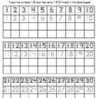 FREEBIE: Number writing practice sheet for the numbers 1-30.  Trace the numbers 1-30 then write the numbers 1-30 (2 times) in the boxes provided.