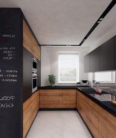 Amazing Rustic Farmhouse Kitchen Decor Ideas – Decorating Ideas - Home Decor Ideas and Tips Kitchen Room Design, Kitchen Cabinet Design, Modern Kitchen Design, Home Decor Kitchen, Interior Design Kitchen, Kitchen Ideas, Kitchen Photos, Küchen In U Form, White Wood Kitchens