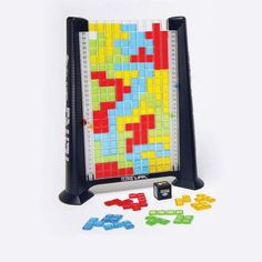 Tetris game!  This would be so fun to play in real life. Kids roll the dice and play.