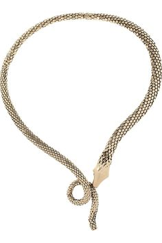 Reminds me of The Never Ending Story - which is a plus.  Aurelie Bidermann gold-plated necklace.