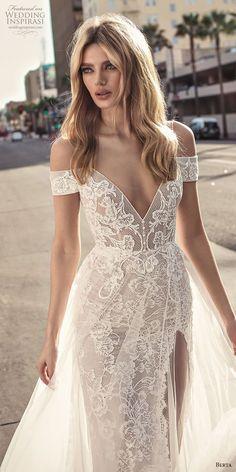 berta 2019 muse bridal spaghetti strap cold shoulder v neck full embellishment romantic soft a line wedding dress scoop back sweep train (1) lv #romanticweddings