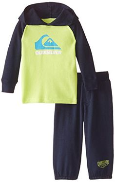 Quiksilver Baby Boys Thermal Hoody with Fleece Pants Navy 18 Months -- Check this awesome product by going to the link at the image.