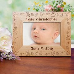 Baby Toys Baby Wood Picture Frame